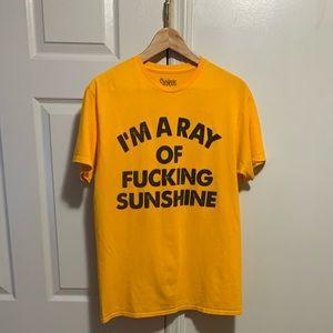 Spencer's Funny Slogan T-Shirt Orange Medium